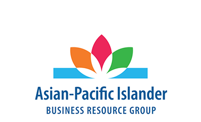 Logo of the Asian-Pacific Islander Business Resource Group showing a multicolored flower