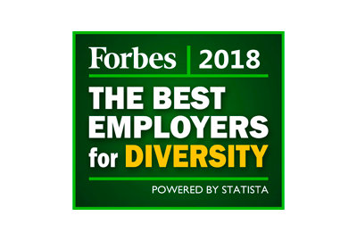 Forbes logo - 2018 Best Employers for Diversity