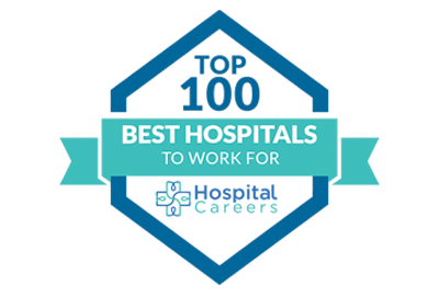 Logo for Top 100 Best Hospitals for Work For by Hospital Careers