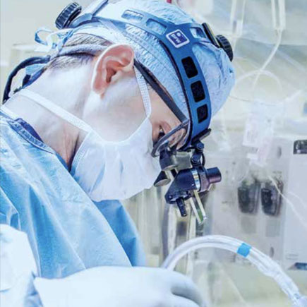 Advancing care image of a surgeon at work