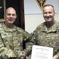 Suter receives Army's 2016 Mologne Award
