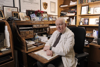 In memoriam: Professor Emeritus of Surgery Dr. Robert McClelland, provided emergency care to President John F. Kennedy