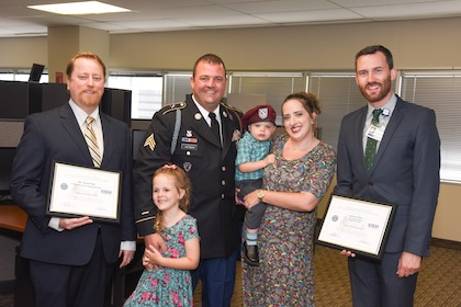 Supporting our veterans: UTSW supervisors honored with Patriot Award