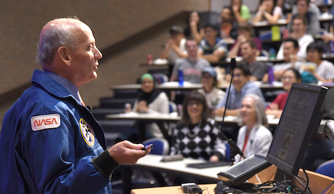 Illustrious alumnus: Former astronaut Thagard recounts thrills of spaceflight