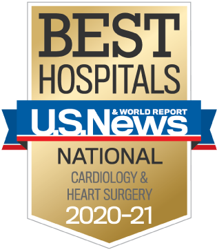 U.S. News 2020-21 Nationally Ranked in Cardiology and Heart Surgery