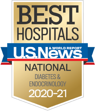 U.S. News 2020-21 Nationally Ranked in Diabetes and Endocrinology
