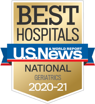 US News 2020 Nationally Ranked in Geriatrics