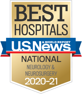 US News 2020-21 Nationally Ranked in Neurology and Neurosurgery