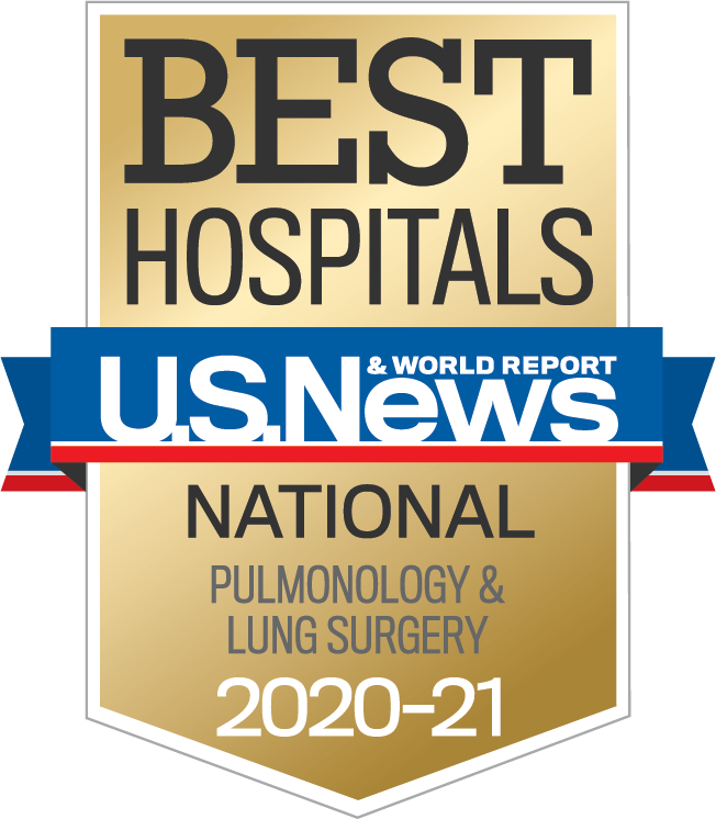 U.S. News 2020-21 Nationally Ranked in Pulmonology and Lung Surgery