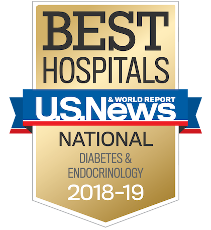 US News 2018 Nationally Ranked in Diabetes and Endocrinology