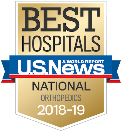 US News 2018 Regional Hospitals - Nationally Ranked in Orthopaedics