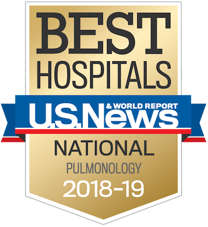 US News 2018 Nationally Ranked in Pulmonology