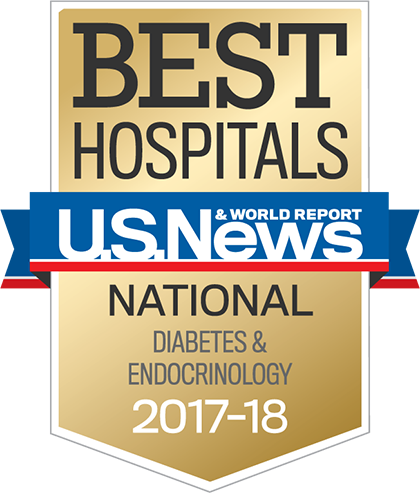 US News 2017 Nationally Ranked in Diabetes and Endocrinology
