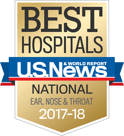 US News 2017 Nationally Ranked in Otolaryngology