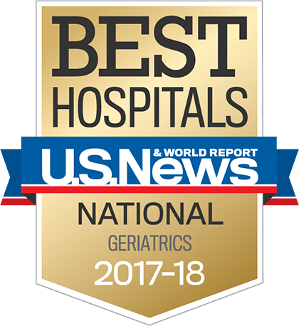 US News 2017 Nationally Ranked in Geriatrics