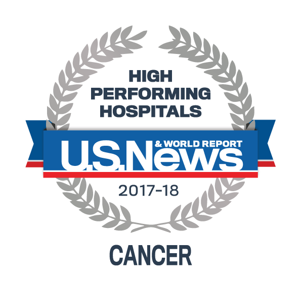 US News 2017 Regional Hospitals - High Performing in Cancer