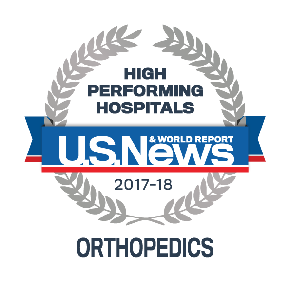 US News 2017 Regional Hospitals - High Performing in Orthopaedics