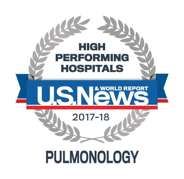 US News 2017 Regional Hospitals - High Performing in Pulmonology