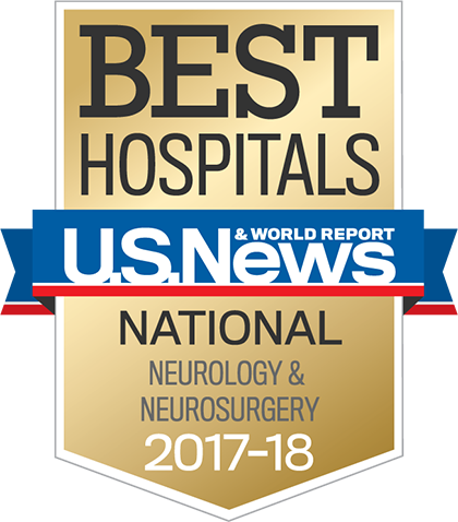 US News 2017 Nationally Ranked in Neurology and Neurosciences