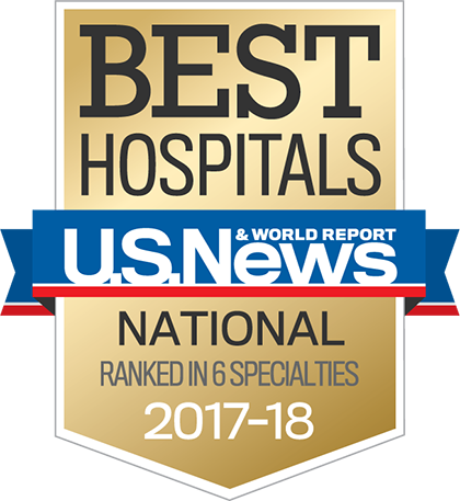 US News 2017 Nationally Ranked in 6 Specialties