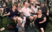 Christie Nichols, Oncology Nursing Supervisor: I love seeing all of the different individuals and disciplines come together to create a powerhouse treatment team! Certainly something special and worthy of celebration! Here we are, team building in the park.