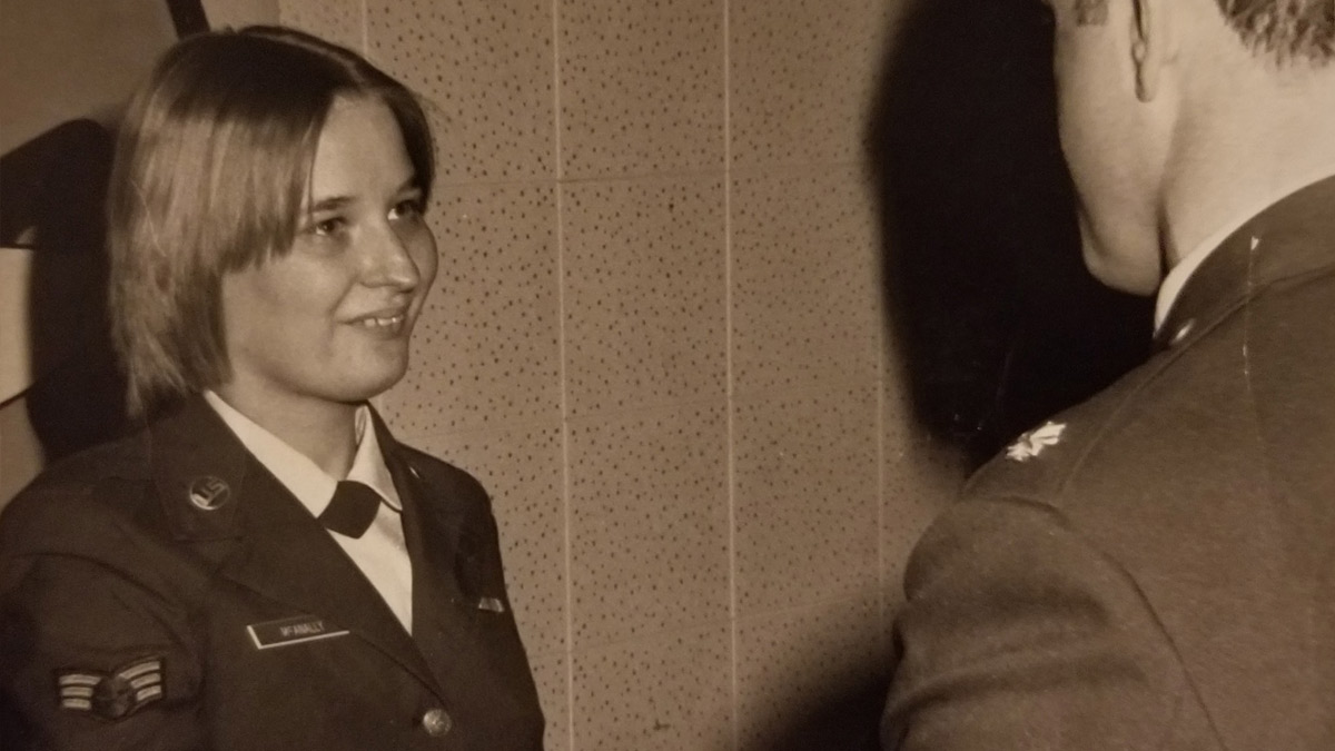 Woman in Air Force uniform