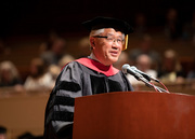 National Academy of Medicine President Dr. Victor J. Dzau delivers the commencement address.