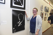 Kate Mackley, with her work John Lefler at the Granada (Black & White Photography, Professional, first place)