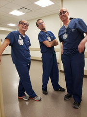 Cool poses with the men of the Venous Access team.