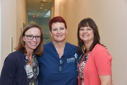 Emergency Department Manager Rachael Faidley, 10 North Unit Manager Amy Johnson, and Education Coordinator Paula Dunn