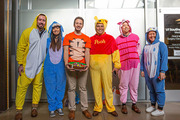 Staff coordinated as characters from the Winnie the Pooh series.