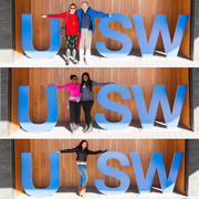 Attendees had some fun becoming one with UT Southwestern.