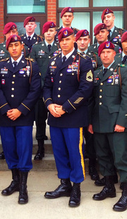 Jeremy Stanton (center), Army<br />Operations Management Materials
