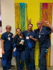 Colorful moments aplenty with the Venous Access team.<br /><br />Submitted by Julie Preston, Assistant Nurse Manager, Venous Access Team