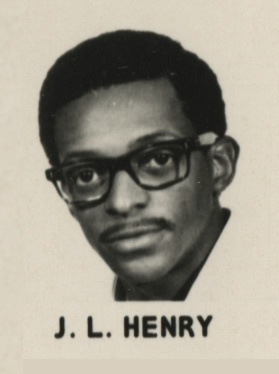 Yearbook photo of Dr. Johnny Lee Henry