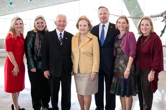 Photo of Perot family in Perot Museum
