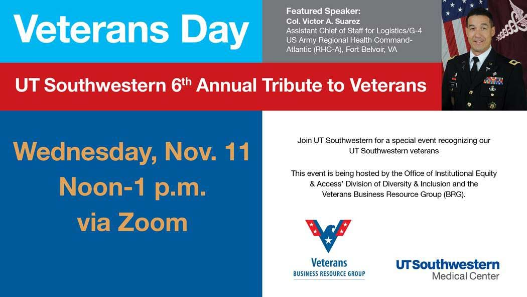 Flyer for tribut to veterans on November 11th