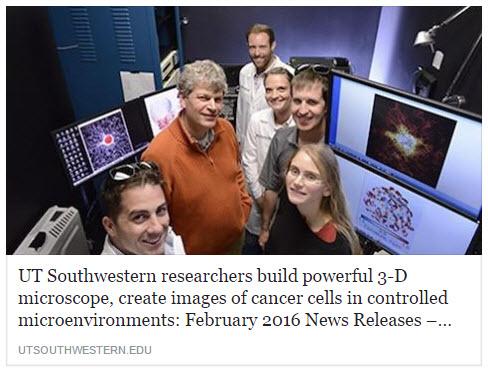 Department Milestones: Bioinformatics - UT Southwestern