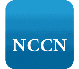 Blue square with the letters NCCN