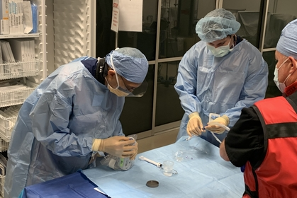 Brachytherapy treatment with resident in training