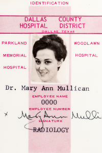 Mary Ann Mullican's First ID Badge