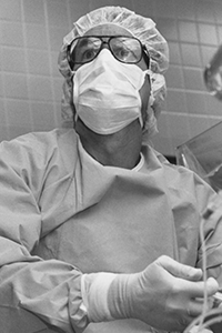 Philip Purdy in surgical garb