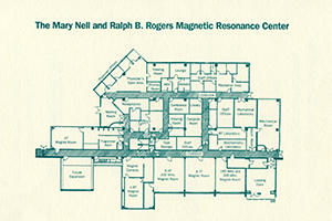 Floor Plan for Mary Neil and Ralph B. Rogers Magnetic Resonance Center