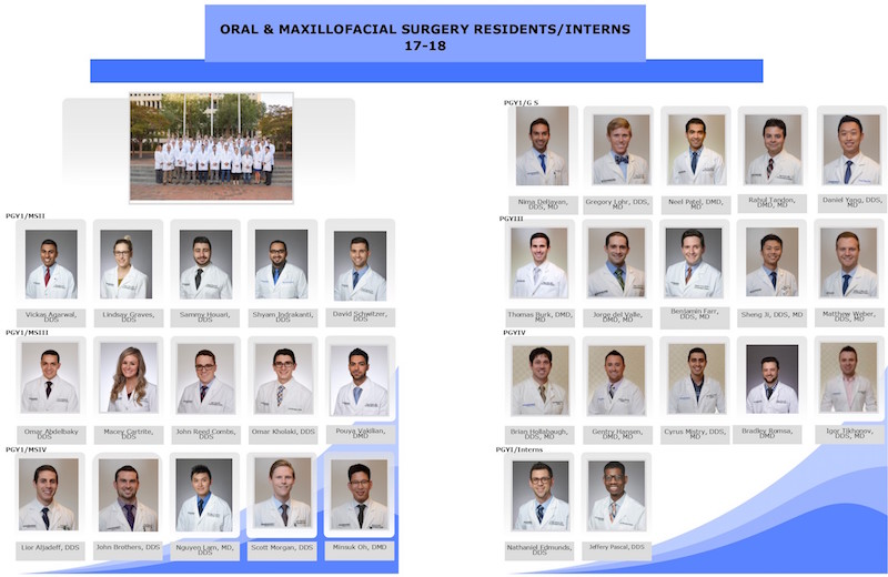Oral and Maxillofacial Surgery Residents 2017-2018