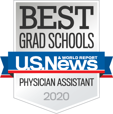 U. S. News and World Report 2020 Best Grad Schools for Physician Assistant badge
