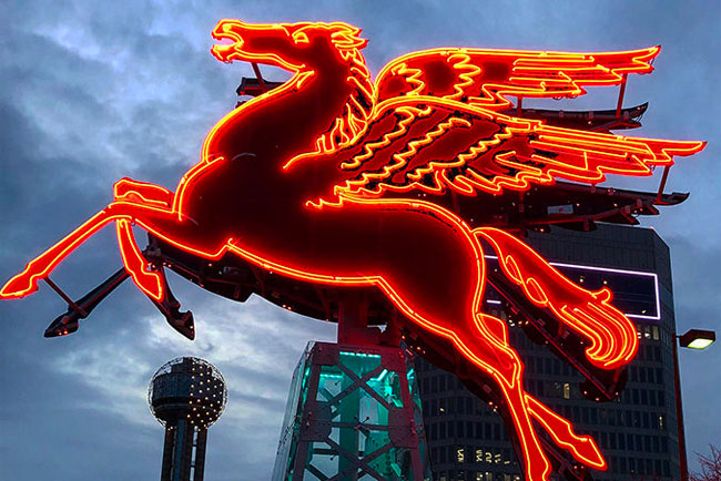 Mobile Oil Pegasus in downtown Dallas