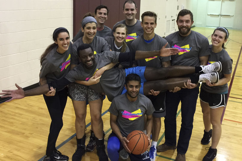 The champion intramural basketball team