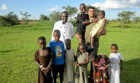 Paul Tavakolian, MS4, and a group of children and one adult in Zambia 2012.