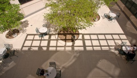 Interior courtyard on UT Southwestern's North Campus.