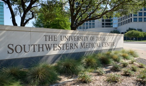 UT Southwestern Medical Center entrance sign - landing page for Purchasing Department